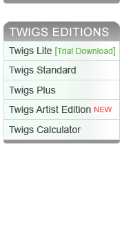 twigs software versions